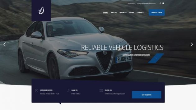 Dovedale Fleet Logistics Website